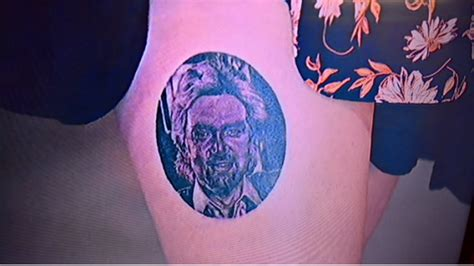 tattoo fixers guests woman has noel edmonds face tattooed on leg as valentine s