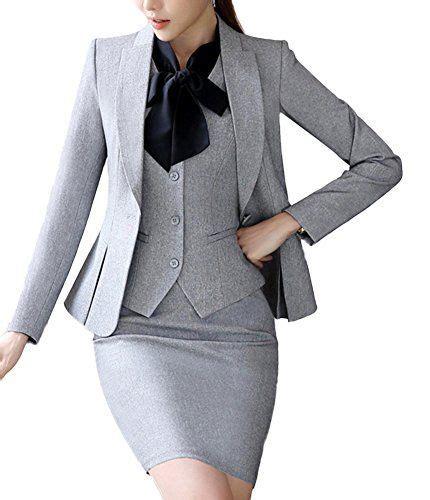 Vest Set Blazer Dress Skirt sk studio womens 4 business skirt jacket dress
