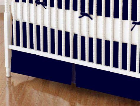 Solid Navy Crib Skirt by Crib Skirt Solid Navy Woven Crib Skirts Sheets Sheetworld