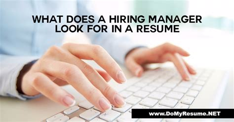 what do hiring managers look for in a resume resume ideas