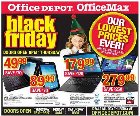 Office Depot Coupons Laptops Office Depot Office Max Black Friday Ad Preview