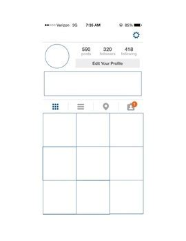Blank Instagram Template By Ms H Scholars Teachers Pay Teachers Instagram Template
