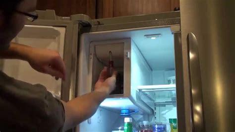 frigidaire gallery refrigerator fan replacement frigidaire ice maker dispenser repair youtube