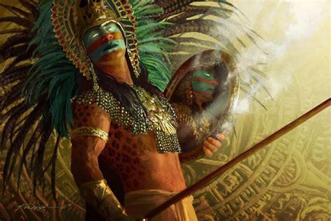 imagenes de nobles aztecas michael komarck illustration