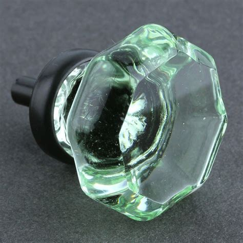 Green Glass Knob by Green Cut Glass Knob Octagon W Rubbed Bronze 36mm
