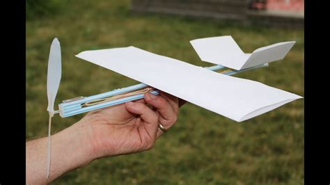 rubber band plane   paper  easy