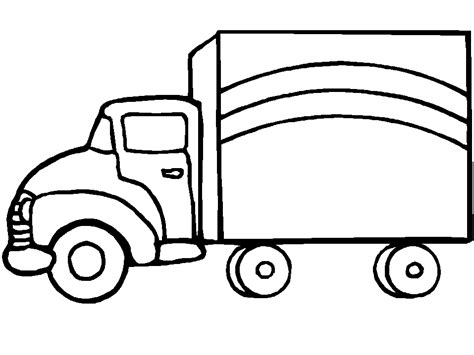 Coloring Pages Trucks Truck Coloring Pages Coloringpages1001 Com