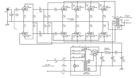 el34 push pull parallel lifier schematic get free