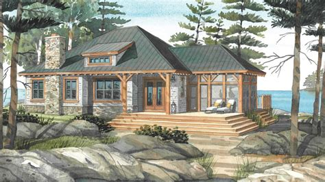 lakefront cabin plans cottage home design plans small retirement home plans