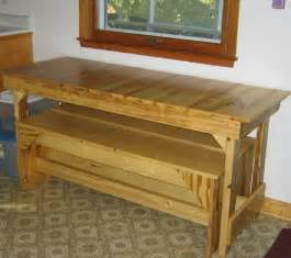 small kitchen tables free trestle table plans for the