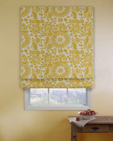 yellow pattern roman shade pin by cynthia pierce on for the home pinterest