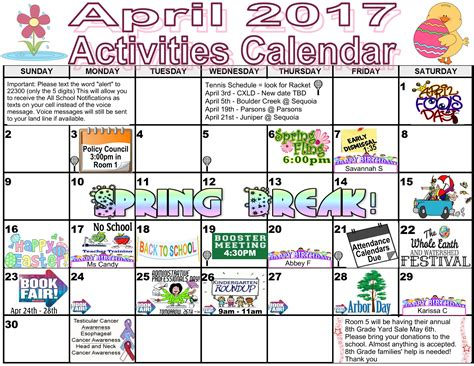 printable calendar ideas activities calendar monarch charter school