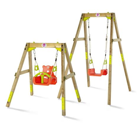 plum wooden swing set plum wooden growing swing set activity toys direct