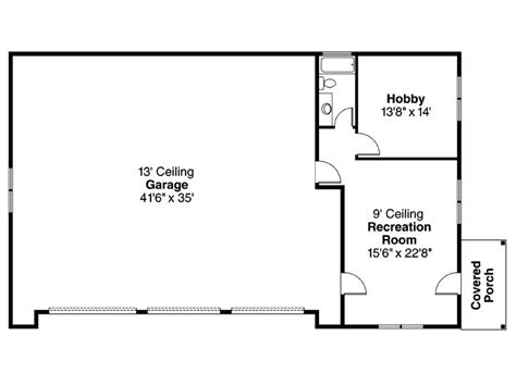 Garage Shop Floor Plans Three Car Garage Plans 3 Car Garage Plan With Hobby Room