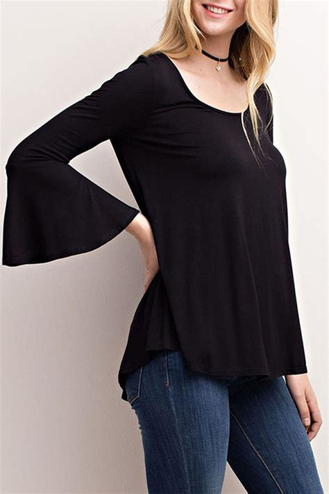 Open Back Sleeve Top mittoshop bell sleeve top open back from by