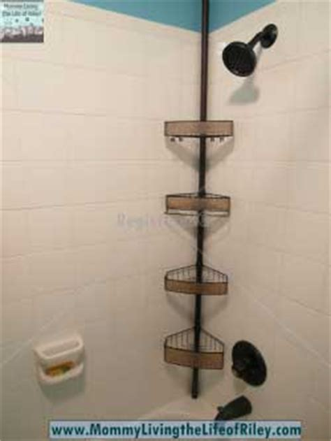 interdesign 174 rain oil rubbed bronze pole shower caddy tension shower caddy rust proof rustproof material