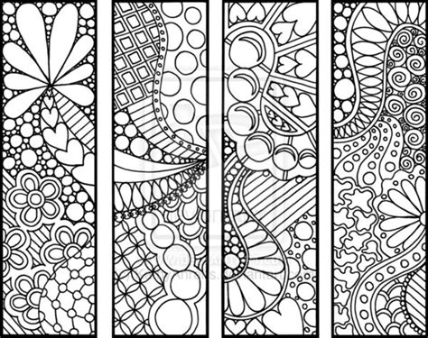 school doodle colouring bookmarks 31 best zen bookmarks images on pinterest doodles
