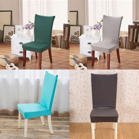 Fabric To Cover Dining Room Chair Seats Fabric Solid Color Stretch Chair Seat Cover Computer Dining Room Hotel Wedding Decor