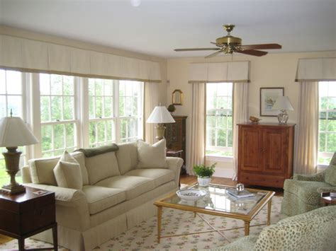 livingroom window treatments valance transitional living room philadelphia by