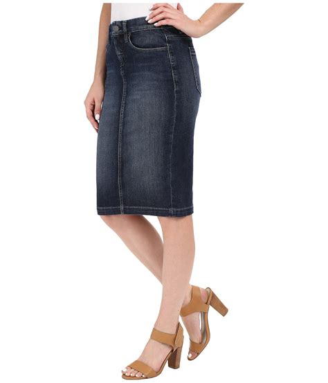 blank nyc denim pencil skirt in denim blue zappos