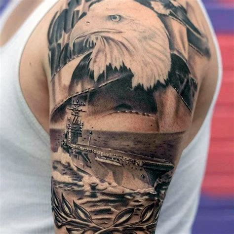navy sleeve tattoo designs 90 patriotic tattoos for nationalistic pride design