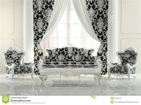 Modern Furniture In Baroque Design Royalty Free Stock