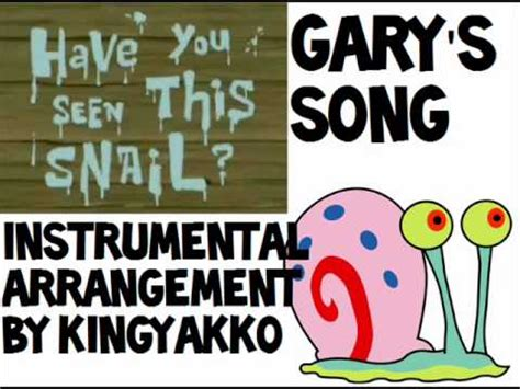 spongebob squarepants gary s song gary come home
