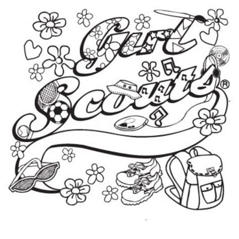 Girl Scouts Coloring Pages Coloring Home Scout Brownies Coloring Pages Free
