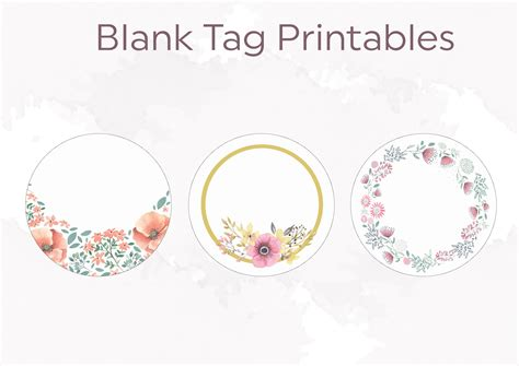 name tag flower design blank floral tags 2 quote lovin
