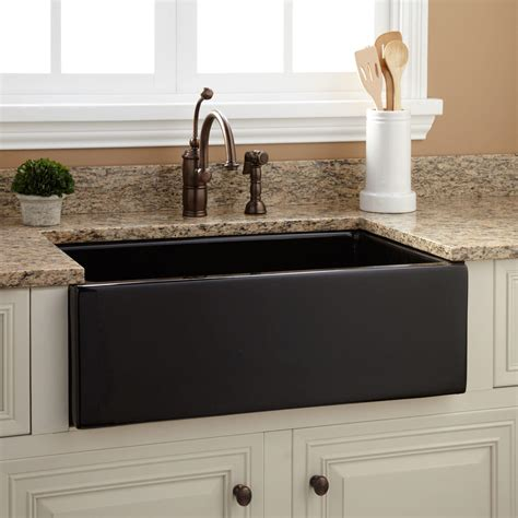 Black Farmhouse Sink 30 quot risinger fireclay farmhouse sink smooth apron