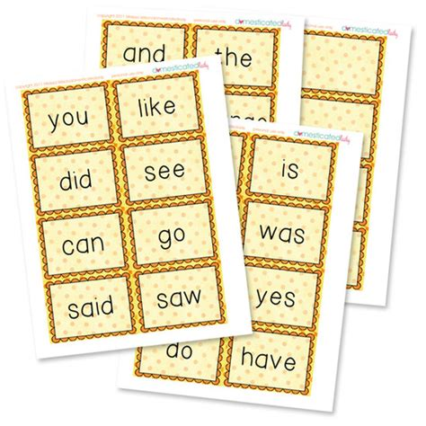 printable flashcards for sight words 14 kindergarten readiness activities and printables tip