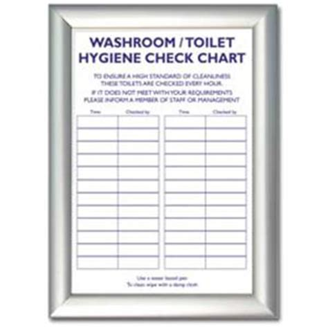 Silver Dining Room Table by Toilet Check List Sheet Sign St18910 Galgorm Group