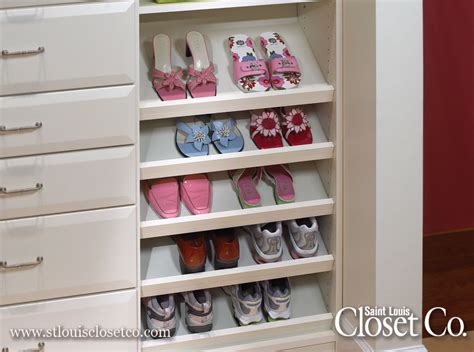 slanted shoe shelves louis closet co