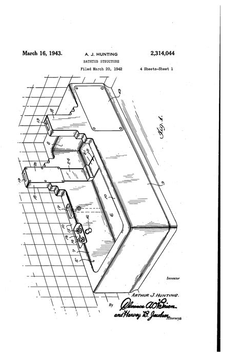 bathtub structure brevet us2314044 bathtub structure google brevets