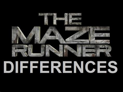 maze runner book film differences the maze runner 10 differences book and movie youtube