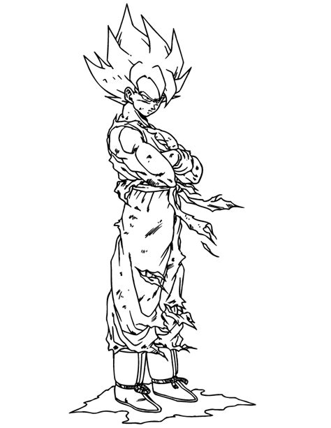 goku super saiyan coloring page h m coloring pages