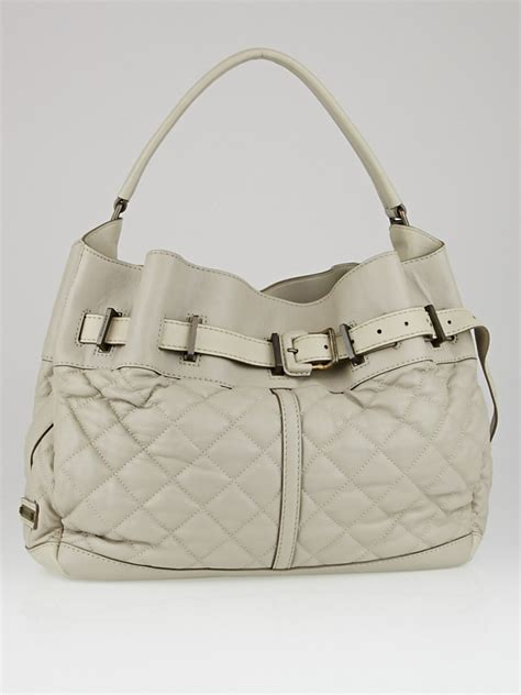 Burberry Quilted Bag by Burberry Grey Quilted Leather Medium Enmore Hobo Bag