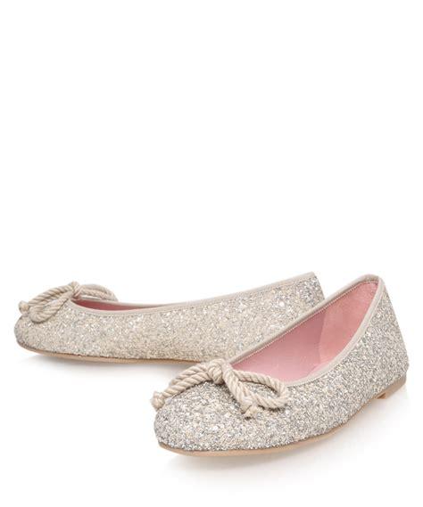 Flat Shoes Gliter Rf01 1 lyst pretty ballerinas glitter ami ballerina flats in metallic