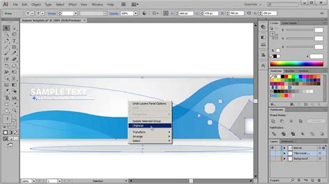 Free Banner Template Adobe Illustrator Youtube Free Adobe Illustrator Templates