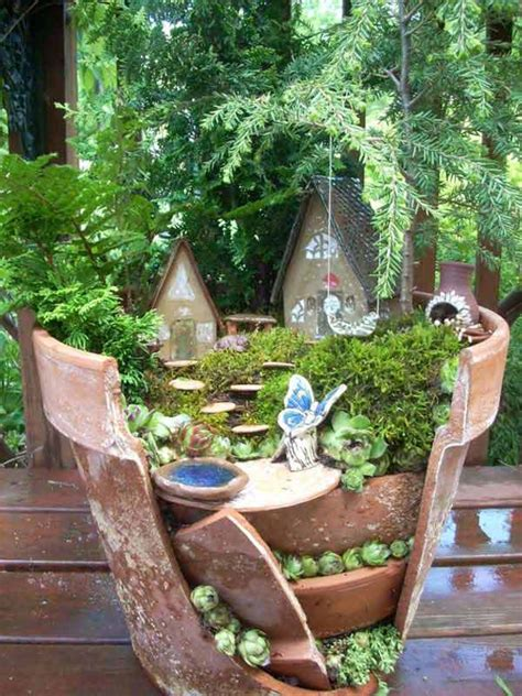 stunning ideas  build  fairy tale garden   broken