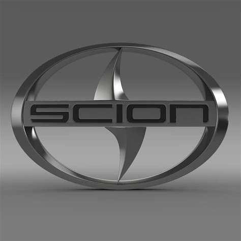 scion logo scion logo 3d model max obj 3ds fbx c4d lwo lw lws