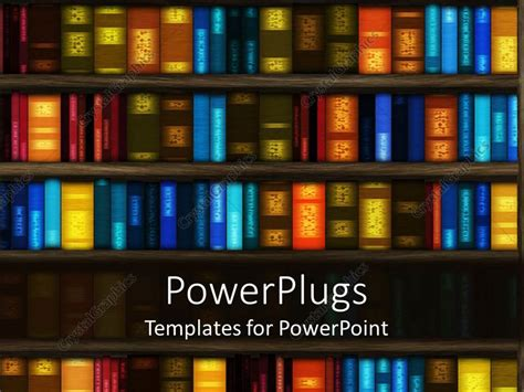 ppt templates for library powerpoint template library book case with so many books