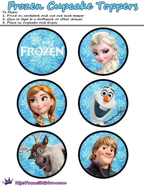printable disney frozen cupcake toppers free printables for the disney movie frozen skgaleana