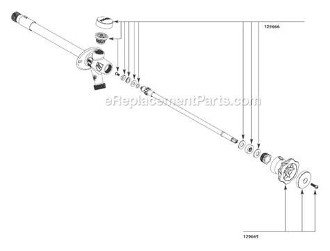 Outside Faucet Parts by Moen 200508 Parts List And Diagram Ereplacementparts
