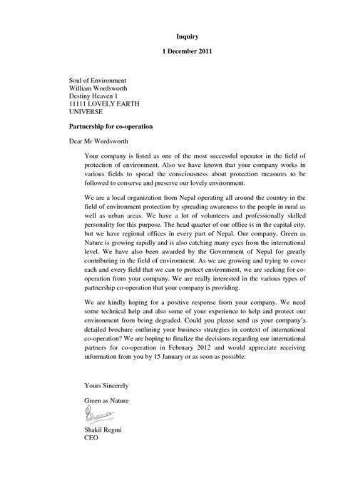 Business Letter Of The Letter different kinds of business letters the letter sle