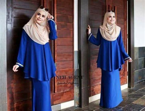 Baju Kurung Pahang Royal Blue baju kurung moden issandra saeeda collections