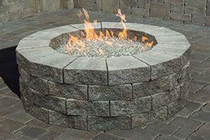 gas firepit kit cambridge pavingstones tables pit kits