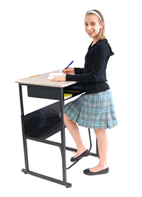 Stand Up For Learning With Alphabetter Student Desks Student Standing Desk