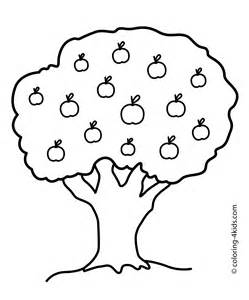 apple tree coloring page nature apple tree coloring page for printable free