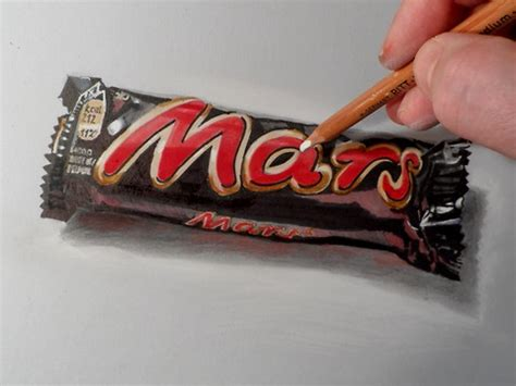 Mars Brand Papir how to draw mars chocolate bar realistic drawing and